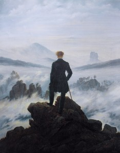 The Wanderer above the Sea of Fog. Paint by C. D. Friedrich.